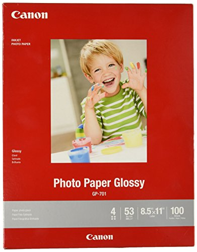 CanonInk Glossy Photo Paper 8.5' x 11' 100 Sheets (1433C004)