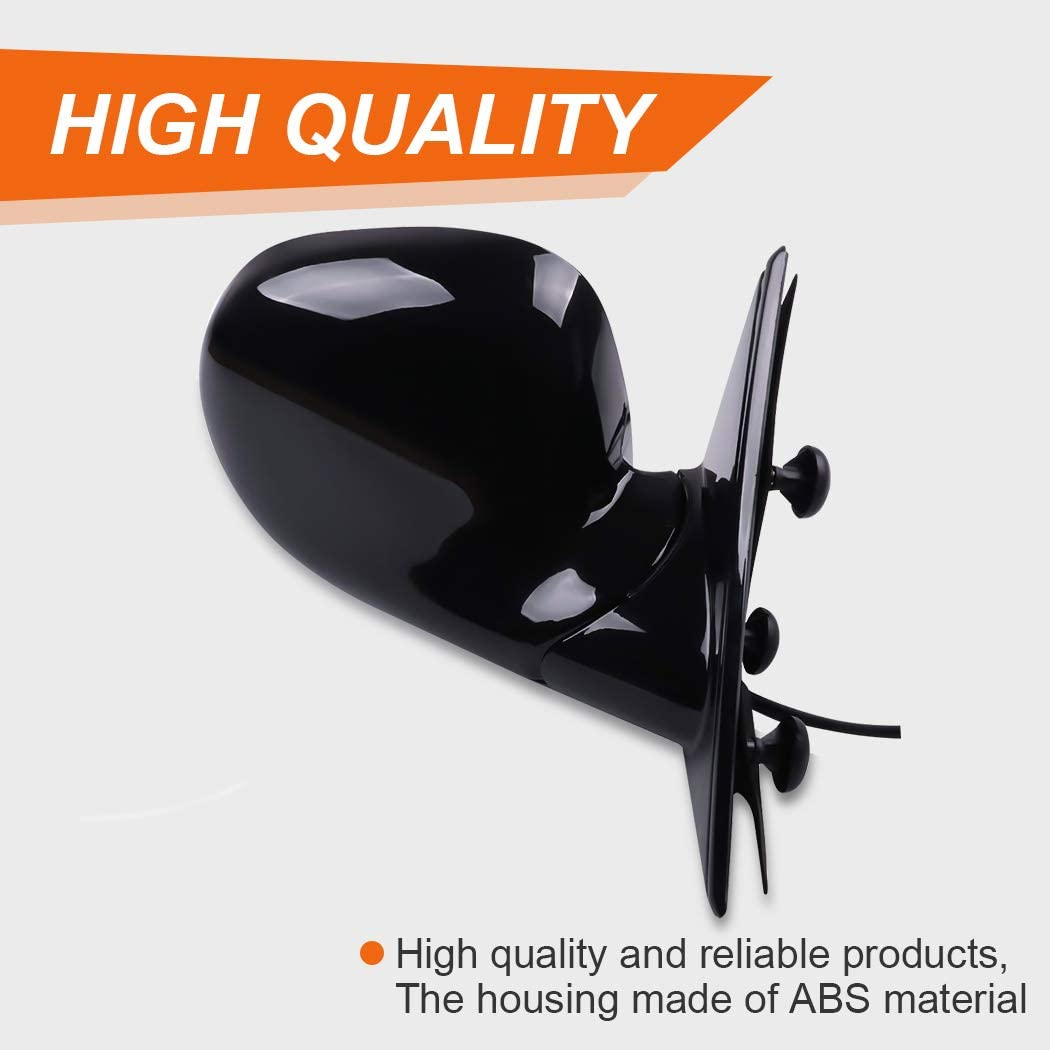 ROADFAR Side View Mirrors Fit Compatible with 1994-97 Chevy S10 Pickup Left and Right Side Non-Heated 15150851 17801665