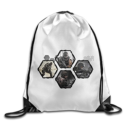 Bekey Call Of Duty Advanced Warfare Gym Drawstring Backpack Bags For Men & Women For Home Travel Storage Use Gym Traveling Shopping Sport Yoga Running (Best Electronic Predator Call)