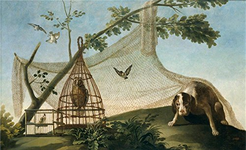 Wireless Decoy - Polyster Canvas ,the Reproductions Art Decorative Canvas Prints Of Oil Painting 'Goya Y Lucientes Francisco De Hunting With A Decoy 1775 ', 24 X 39 Inch / 61 X 100 Cm Is Best For Laundry Room Decoration And Home Gallery Art And Gifts