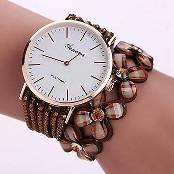 BranXin - New and Fashion Geneva Flowers Watches Women Dress Elegant Quartz Bracelet Ladies Watch Crystal