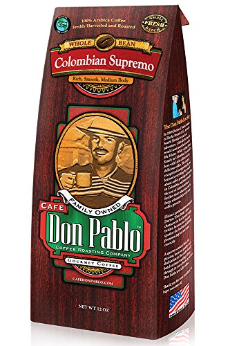 Café Don Pablo - Medium-Dark Whole Bean - Colombian Supremo - 12oz Bag