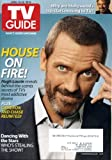 TV Guide April 12 2010 Hugh Laurie/House on Cover (Behind-the-Scenes Secrets), Pamela Anderson/Dancing With the Stars, Jim Parsons/The Big Bang Theory Chats with Stephen Hawking, Patricia Cornwell, Ugly Betty, Fringe, Glee