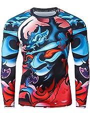 LAFROI Heren UPF 50+ Baselayer Performance Compressie Shirt Rash Guard-CLY08