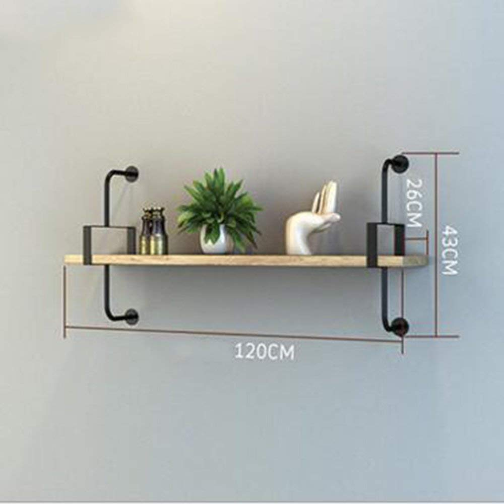 1 Layer 120cm DYR Shelving Multi-Storey Shelving Wall Suspension for Bedroom Club Hotel Living Room (color  1 Layer 100cm)
