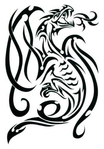 Dragon Noir Tribal Body Art