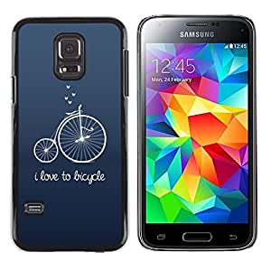 iKiki Tech / Estuche rígido - Old Unic Blue Text Hipster - Samsung Galaxy S5 Mini, SM-G800, NOT S5 REGULAR!