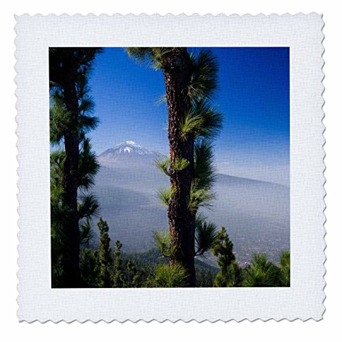 3dRose Danita Delimont - Mountain - Spain, Canary Islands, Valle de la Orotava, Pico del Teide volcano. - 16x16 inch quilt square (qs_257878_6) by 3dRose