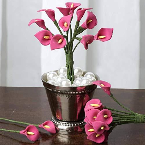 Mikash 144 pcs Mini Clay Calla Lilies - Crafts Flowers Wedding Favors Decorations Sale | Model WDDNGDCRTN - 1637 | ()