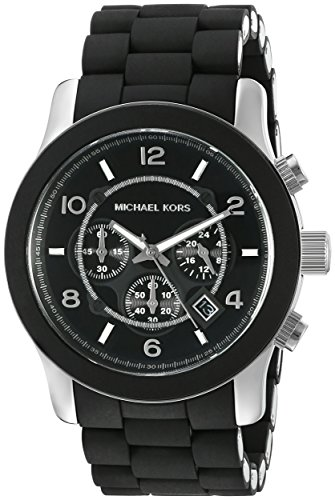65e46c46727a Michael Kors Men s Runway Black Watch MK8107 (B001V8JB9G)