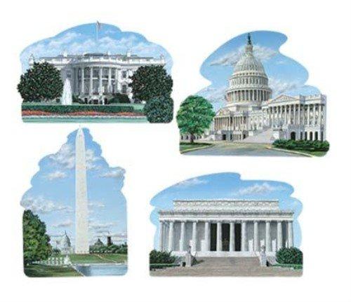 Best Halloween Party Washington Dc (Washington DC Cutouts Party Accessory (1 count))