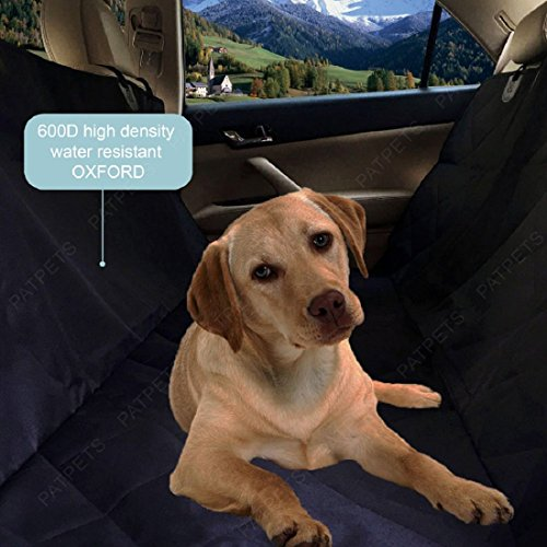 Patpets Deluxe Waterproof Pet Seat Cover with Bonus Pet Car Seat Belt for Cars and SUV -Nonslip, Quilted, Extra...