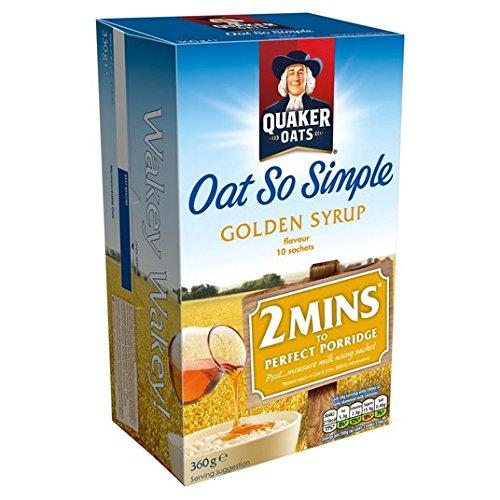 Avena Quaker tan simple jarabe de oro Gachas 10 x 36g: Amazon.es: Alimentación y bebidas