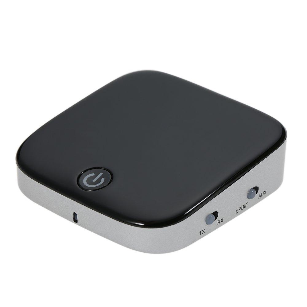KKmoon Bluetooth Sender und Empfä nger, BT 4.1 3.5mm AUX Kabelloser Audio Adapter Digital Optisch TOSLINK und SPDIF aptX Niedrige Latenz fü r TV Home / Car Audio Stereo Musik Streaming Sound Systeme