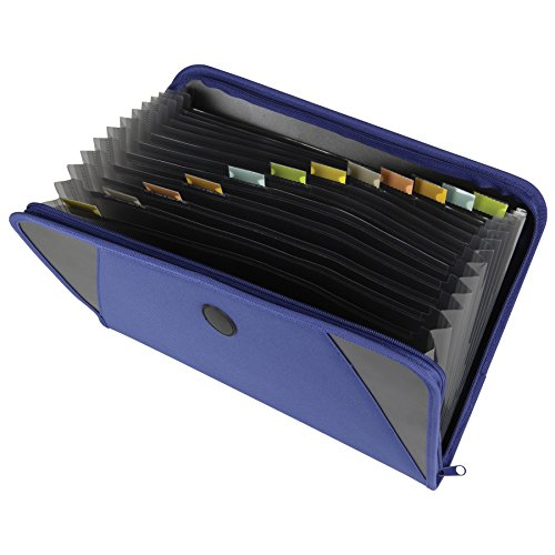 [C-Line Expanding File with Zipper Closure, Letter Size, 300-Sheet Capacity, 1 File, Blue (48105)] (Zipper File)