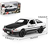 GshoppingLife 1:28 Toy Car INITIAL D Metal Toy Alloy Car Diecasts & Toy Vehicles Car Model Miniature Scale Model Car Toys For Children(White)