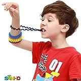 SANHO Chewable Jewelry Coil Bracelet Set- Speech Communication Aid Autism Sensory, Assorted Colors (Set of 6)