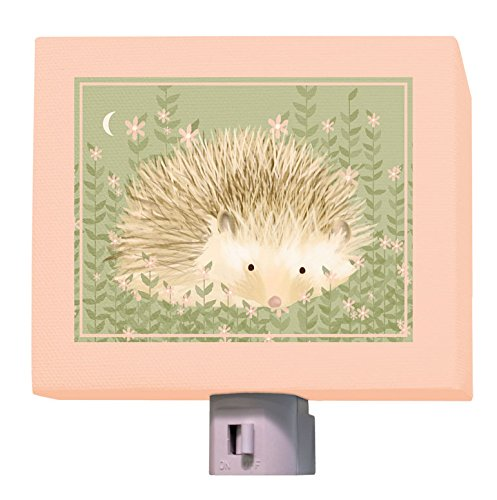 Oopsy Daisy Holly The Hedgehog Night Light, Green/Pink, 5