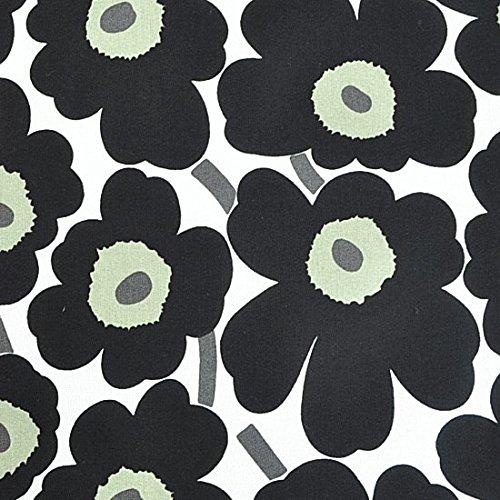 【白地に黒】 ミニウニッコmarimekkoマリメッコ MINI Unikko 生地 70×50cm単位切り売り
