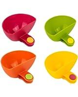 Phifo Dip Clips Dip-Schüsseln zum Befestigen am Tellerrand, für Ketchup, Salz, Essig, Zucker, Gewürze usw., 4Stück