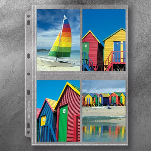 Lineco Polypropylene Photo Album Pages Style A,  9.25 X 11 Inches, Holds 3 x 5 Inch Photos, Pack of 25 (AW24919-25) from Archivalware