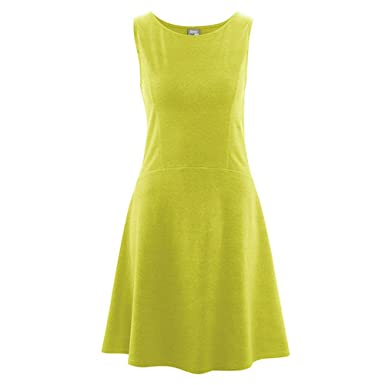 HempAge Damen Kleid Hanf/Bio-Baumwolle/Elasthan Apple XS
