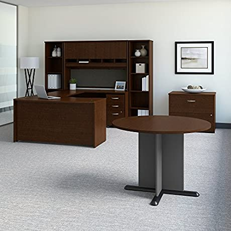 Bush Business Furniture Office Suite SRC098MRSU Mocha Cherry