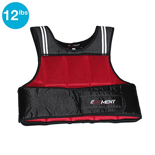 Adjustable Weighted Vest for Fitness (12 40lbs) by EFITMENT