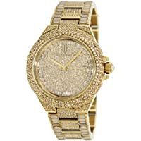 Michael Kors Camille Crystal Covered Gold Stainless Steel Ladies Watch MK5720