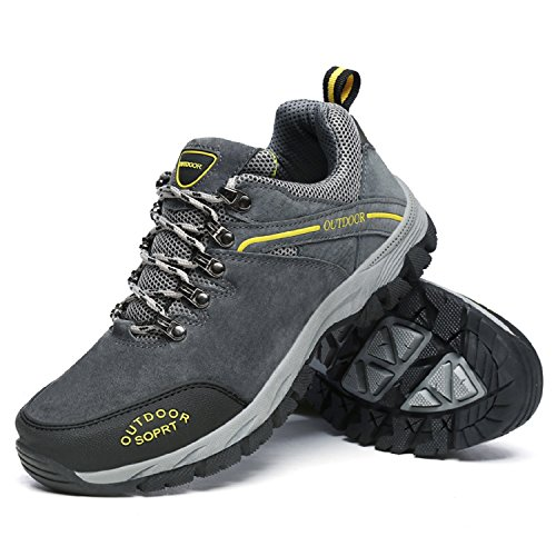 Schuhe Rutschfest Sneaker Grau Hiking Herren Wanderschuhe Turnschuhe 1 Schuhe Trekking LILY999 Outdoor Unisex qzFpwt