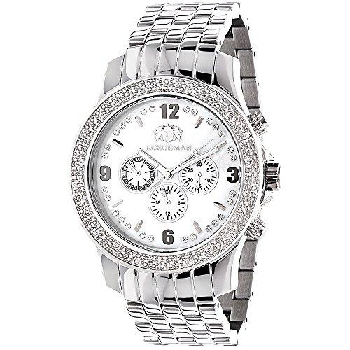 (LUXURMAN Mens Diamond Watch 0.20 ct)