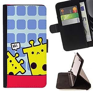 - New York City - - Monedero pared Design Premium cuero del tir?n magn?tico delgado del caso de la cubierta pata de ca FOR HTC One M7 Funny House