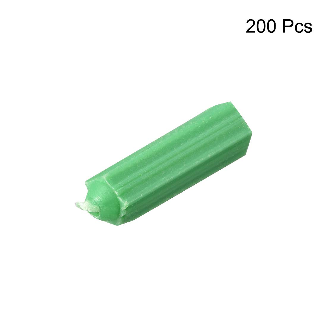 uxcell 8X28mm Household Masonry Plastic Screws Anchor Expansion Pipe Fixings Wall Connector Green 200pcs