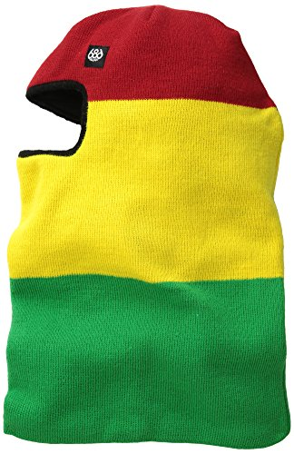 686 Men's Full Face Balaclava, Rasta, One (Rasta Face)