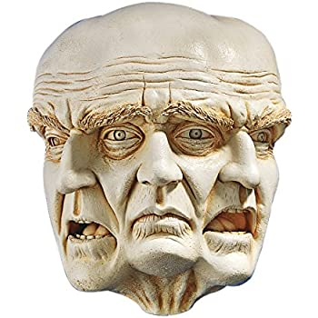 Design Toscano Faces of a Nightmare Gothic Wall Sculpture, 10 Inch, Polyresin, Ancient Ivory