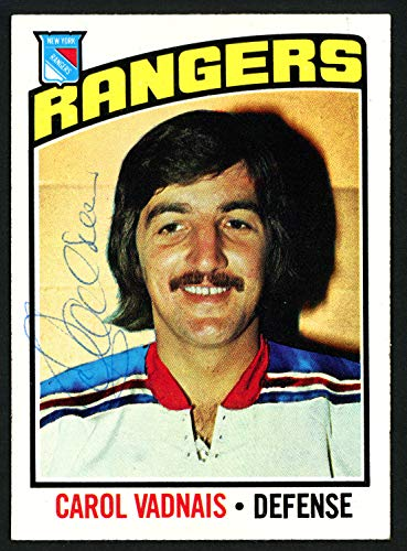 - Carol Vadnais Autographed Signed Memorabilia 1976-77 Topps Card #257 New York Rangers 150201 - Certified Authentic