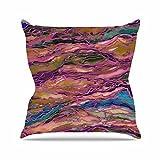 Kess InHouse Ebi Emporium Marble Idea! - Light Jewel Tone Lavender Pink Outdoor Throw Pillow, 16'' x 16''