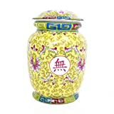 Yellow Wealthy Vase with Lid-withouth accessories