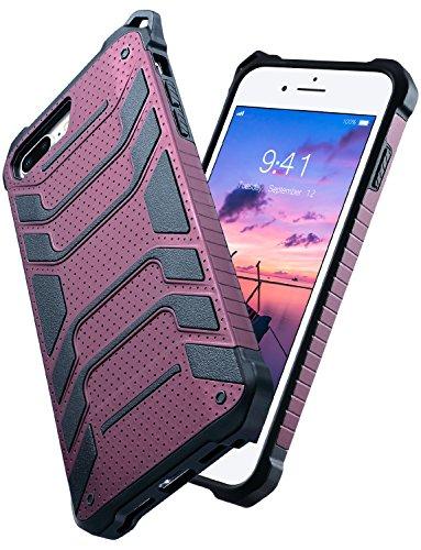 iPhone 8 Plus Case, iPhone 7 Plus Case, ULAK Slim Anti-slip Protective Case Grip Rubber Bumper Cover for iPhone 7/8 Plus 5.5 Inch- Burgundy