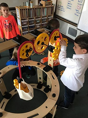 Rigamajig Simple Machines Add-On Kit to Build onto Basic Builder and get Hands-on Practice with Gears, axels, levers, and Other Simple Machines. Great for STEM Education. Ages 3+ by Rigamajig (Image #2)