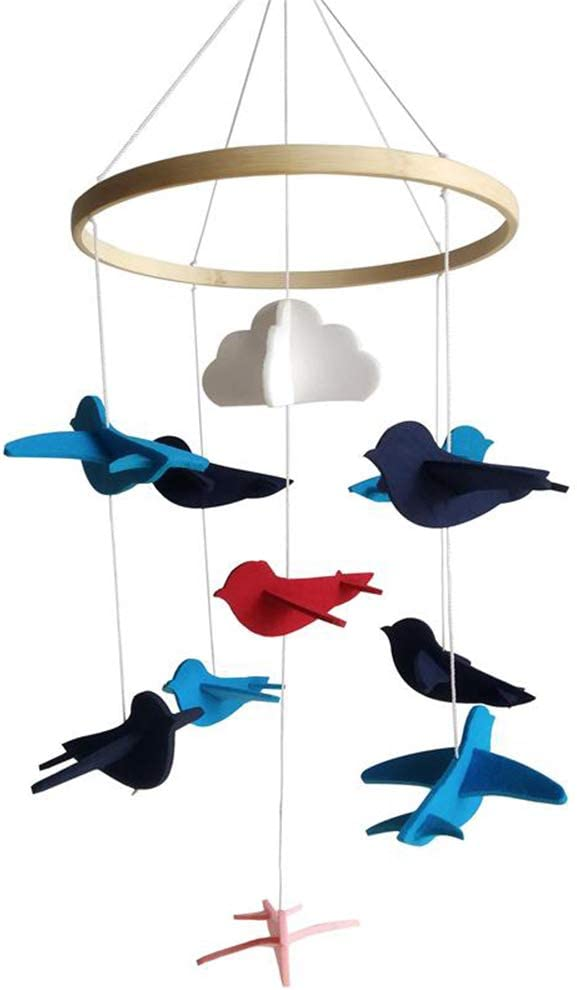 Nordic Style Felt Baby Crib Mobile Hanging Ornament for Bedroom Nursery Decoration Newborn Gift Ceiling Decor kgjsdf Baby Bed Bell
