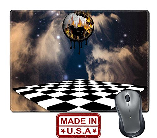 """Price comparison product image Liili Natural Rubber Mouse Pad/Mat with Stitched Edges 9.8"""" x 7.9"""" Time melts IMAGE ID 12942183"""