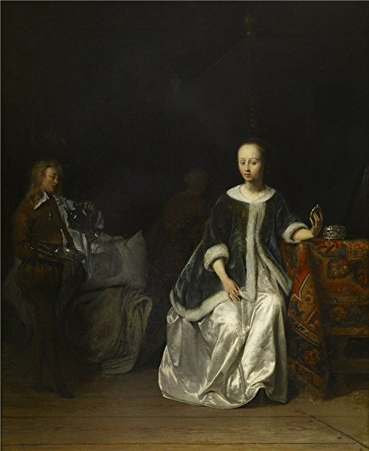 Costume Students Twin Towers (High Quality Polyster Canvas ,the Reproductions Art Decorative Canvas Prints Of Oil Painting 'Gabriel Metsu - A Lady At Her Toilet, 1648-67', 12x15 Inch / 30x37 Cm Is Best For)