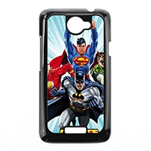 HTC One X Cell Phone Case Black Justice League Team Power Up Blue Sjvlp