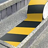 Safety Tape Roll Yellow and Black Anti Slip - Highest Traction (4'' x 15' Yellow/Black)