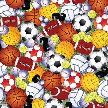 Play Ball Sports Balls Gift Wrapping Roll 24
