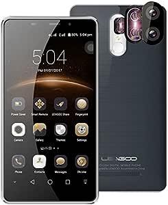 Leagoo M8 Pro - 5.7 Pulgadas Corning Gorilla Glass 4 Pantalla Smartphone Doble Cámara Trasera (5MP + 13MP), Android 6.0 Quad Core 2 GB de RAM de 16 GB Huella Dactilar Batería 3500mA: Amazon.es: Electrónica