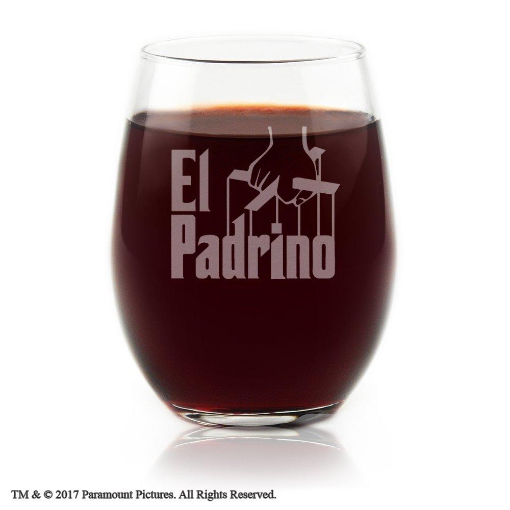 Movies On Glass - El Padrino Movie Engraved Logo Stemless Wine Glass