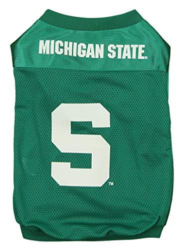 Sporty K9 NCAA Footbal Mesh Dog Jersey, Michigan State Spartans Medium