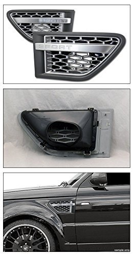 2003-2012 Land Rover Range Rover Silver/Grey Mesh Front Side Fender Intake Vent Grill Grille Range Rover (Range Rover Side Vents compare prices)